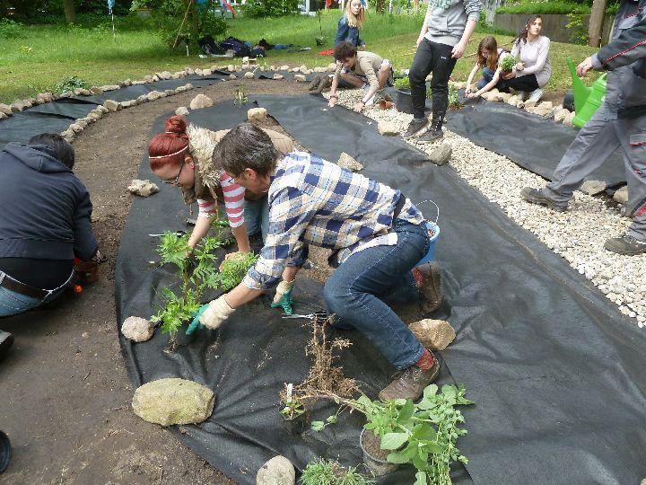 gartengestaltung mit steinen und rindenmulch – rekem, Garten Ideen